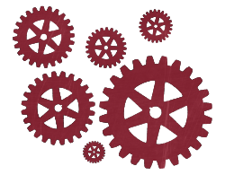 gears of various sizes - image