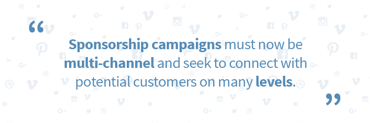 "Quotation graphic: ""Sponsorship campaigns must now be multi-channel and seek to connect with potential customers on many levels."""